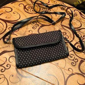 Black and white polka dot wallet purse